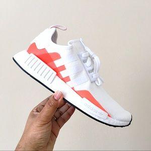 Adidas Shoes Nmd R1 White Orange Poshmark